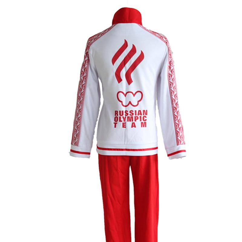 Home On Ice Cosplay Victor Viktor Nikiforov School Uniform Sport Suit Jacket Top Pants Japanese Anime Costume Yuri!!