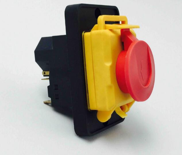Free shipping Electromagnetic switch 7 Pin On Off Push Button Protective cover Emergency stop Ignition switch 16A 230V YCZ4-A ignition momentary press push button switch protective cover ycz3 c emergency stop & start 5 pin on off red sign 10a 125v