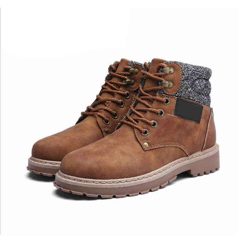 c1b577e86137c ... NIS Motorcycle Biker Winter Shoes Men Ankle Boots Men Timber Land Shoes  High Top Sneakers Work ...