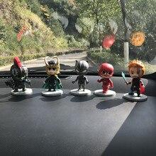 Мультяшные пластиковые Мстители, Железный человек, Бэтмен, Супермен, автомобильные принадлежности, Лига справедливости, рейтеон, Человек-паук, автомобильные аксессуары для интерьера