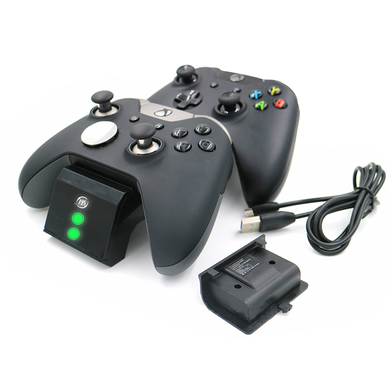 With charging status screen gamepad charger station base plus 2 rechargeable battery packs for Xbox One / One S / One X-in Chargers from Consumer Electronics