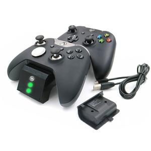 Image 1 - Z ekranem stanu ładowania gamepad stacja ładująca baza plus 2 zestawy akumulatorów do konsoli Xbox One/One S/One X