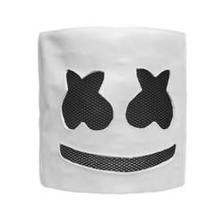 Латекс DJ шлем в форме маршмеллоу анфас Косплэй Хэллоуина вечерние реквизит мягкая вечерние Косплэй маска для детей и взрослых