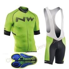 NW Pro для мужчин короткий рукав Велоспорт трикотажная велосипедная одежда нагрудник шорты для женщин рубашка комплект MTB велосипедный спорт одежда 2019 ropa ciclismo 12D гель pad #3
