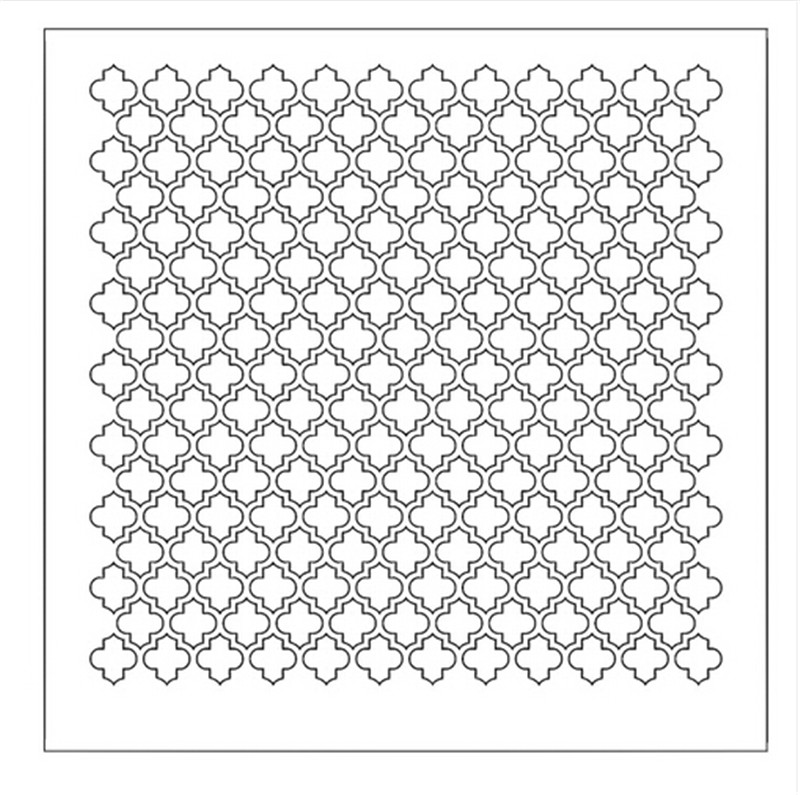 Box Moroccan Lattice Stencil for DIY Scrapbooking Decorative ...