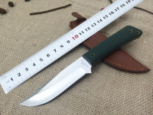Shootey The Green Hornet Hunting Fixed Knives 440C Blade Green Linen G10 Handle Sanding Polish Camping Outdoor Knife Free Shippi