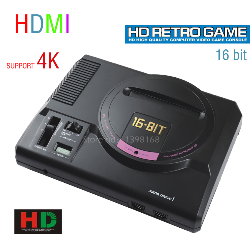 16 Bit Sega MD video game console 720P out put/ Support put card/ Arcade Classic collection 16 bit game card 2015 16 sega