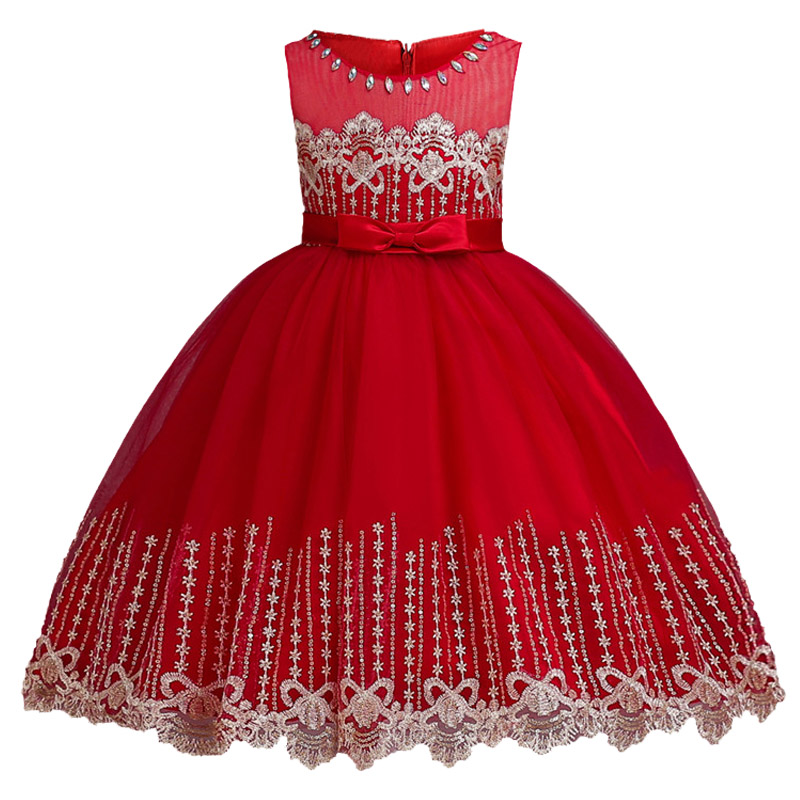 Flowers Girls Dress Wedding Princess Dresses For Girls Summer Children Clothes Girl Costume For Kids Vestidos 3 5 6 8 9 10 Years 2016 brand cute girls clothes summer children dresses plaid casual princess dress girls vestidos 10 old roupas infantis menina