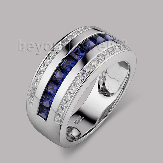Aliexpress.com : Buy Solid 14Kt White Gold Men Band
