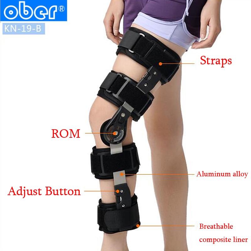 new product c932e 86bc7 Ober Adjustable Medical ROM Knee Brace Support Joint Apparatus Stabiliser  Meniscus Injury Softening Patellar Tendinitis Laxity