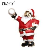New European and American style fashion Christmas series pearl brooch, santa brooch