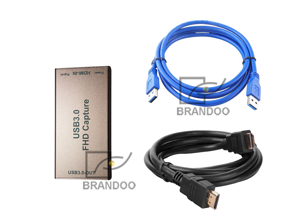 BRANDOO 1080P HDMI To USB 3.0 Driver Video Audio Capture Dongle Capture Card Design For Live Broadcast