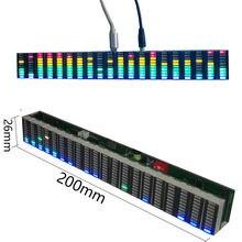 ססגוניות LED מוסיקה ספקטרום Analyzer תצוגת MP3 PC מגבר אודיו רמת מחוון מוסיקה קצב מנתח VU מטר רכב