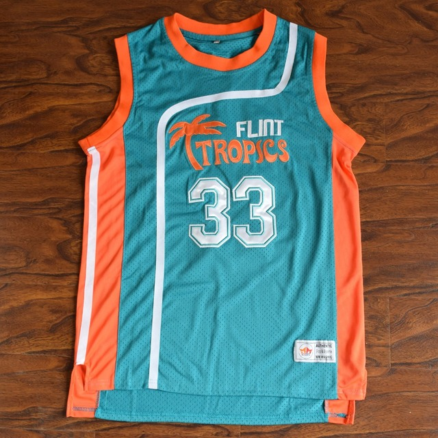MM MASMIG Jackie Moon  33 Flint Tropics Basketball Jersey Stitched Green 55badd6cc