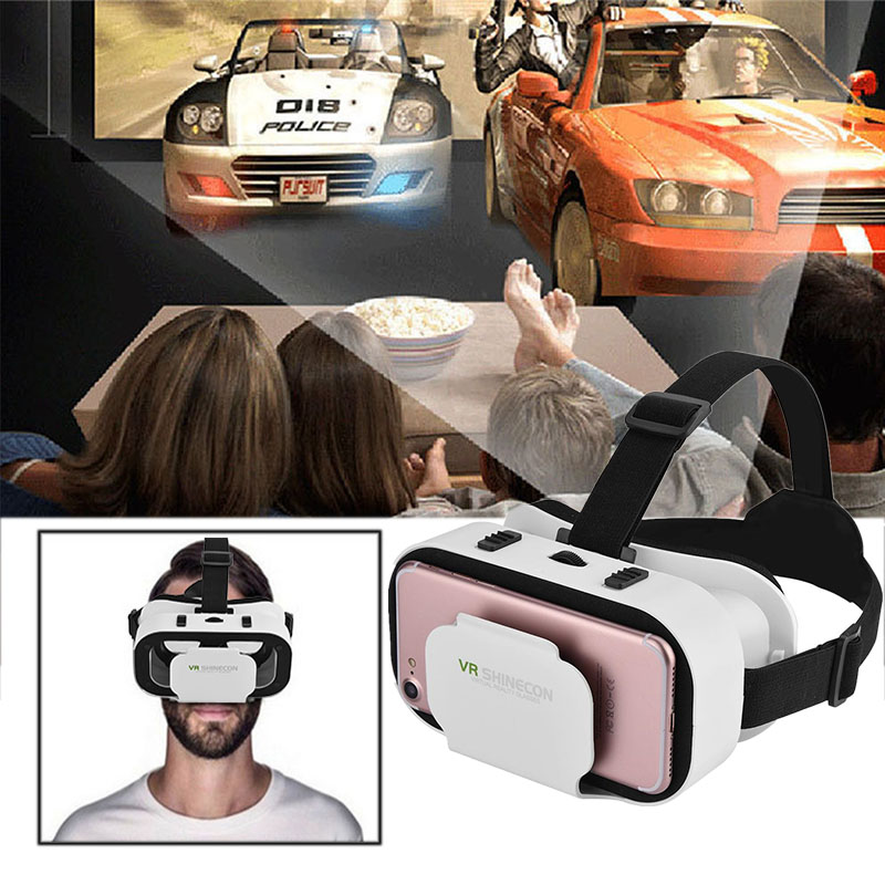 VR SHINECON 3D Virtual Reality Glasses Movies Games for 4.0-6.0 inch Smartphone