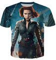 Women/men Black Widow Super Hero T shirt  Summer  Fashion 3D Printed anime  cartoon Tee