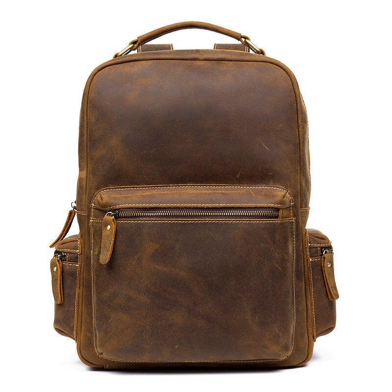 Backpack Men Fashion Genuine Leather Shoulder School Bag Business affairs Sturdy travel luxury backpack