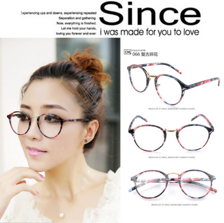 aliexpresscom buy vintage circle non mainstream glasses print floral eyeglass frames women plain mirror male big ultra light nerd eyeglasses frame from