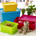 Colorful Children's Toys Multi-functional Small Covered Storage Box Under the Bed