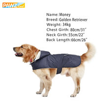 PAWZRoad Pet Clothes Dog Warm Soft Coat Puppy Apparel Large Dog Removable Hoodies Back Pocket & Reflective Design Free shipping