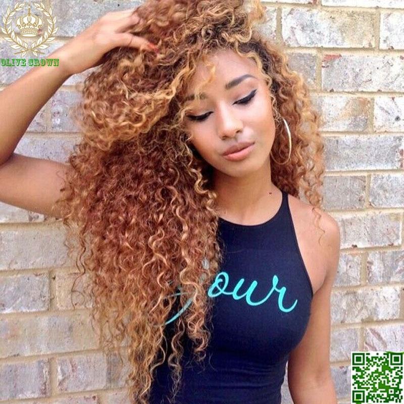 Best Blonde Human Hair Full Lace Wigs Virgin Hair Peruvian Curly