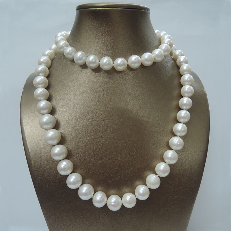 100% NATURE FRESHWATER PEARL NECKLACE AAA+ 12 13 mm pearl good quality 80 CM long pearl necklace,NEAR ROUND SHAPE