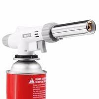 2017 New Gas Torch Flame Gun Blowtorch Cooking Soldering Butane AutoIgnition Gas Burner Lighter Heating Welding