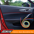 Free shipping!For MAZDA CX-4 cx4 Interior doors decorative lines Interior Mouldings light strip for cx-4 accessories