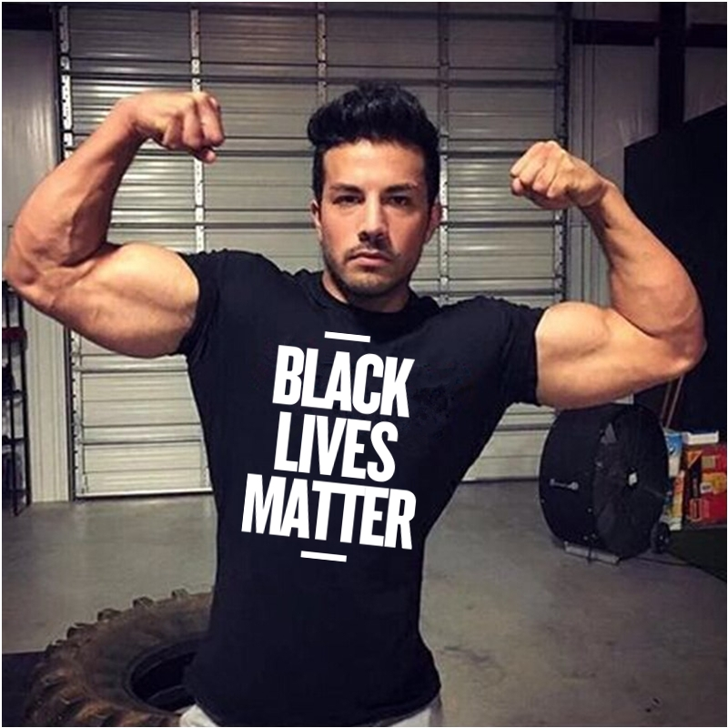 HTB1ZpCeOwHqK1RjSZFkq6x.WFXaQ - Showtly Black Lives Matter Men's T Shirt BLM Tee Tops Activist Movement Clothing Casual Cotton Short Sleeve