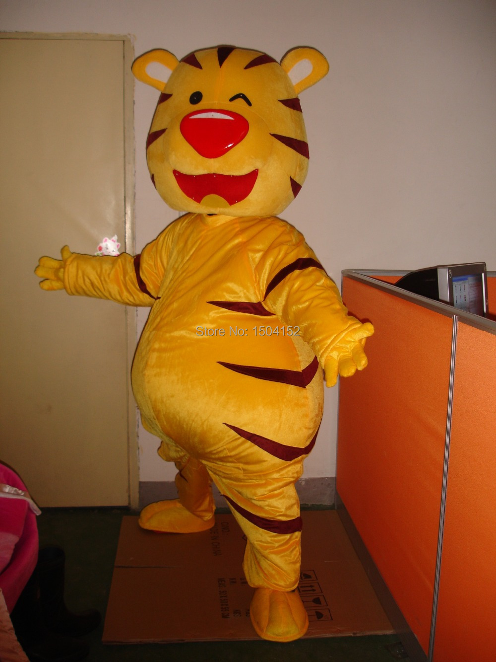 Лидер продаж 2016 года Хэллоуин большой жира Желтый Тигр мультфильм Маскоты Костюм Аниме Cosply Маскоты e тема маскарадный карнавальный костюм
