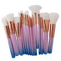 MAANGE 15Pcs Makeup Brushes Foundation Highlighter Eyeshadow Eyeliner Lip Brand Make Up Eye Brushes Cosmetic Beauty