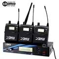Monitor de oído sistema inalámbrico escenario profesional UHF monitoreo inalámbrico en auriculares tres receptor de Boadypack y un transmisor