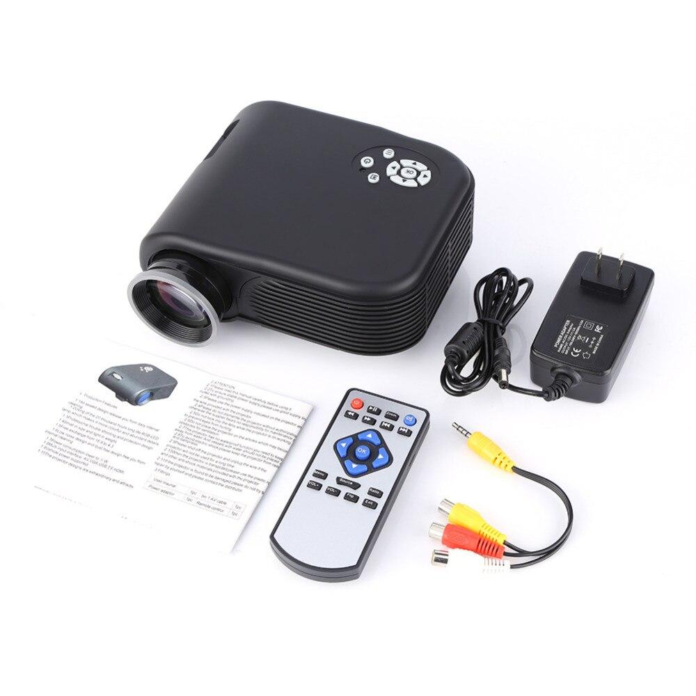 640x480 píxeles 1080 P LED Mini Proyector Multimedia 180 LMs de Cine En Casa