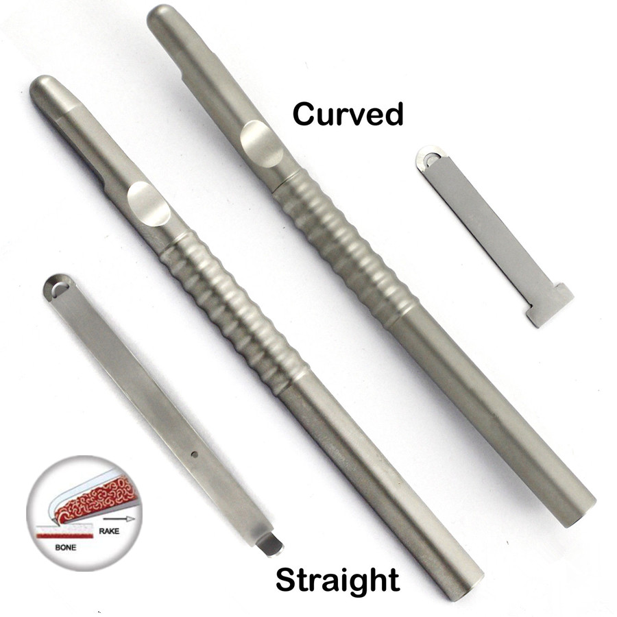 1 Pcs Dental Implant Bone Scraper Instrument Stainless Steel Tool Surgical Collector Straight And Curved For Choose