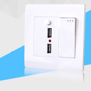 цена на Type 86 dual - control switch  with dual USB socket  220V wall charging two - hole USB  interface power panel