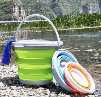 5L портативный складной ковшик хранение, силикон Автомойка рыболовное ведро для рыбалки кемпинга Автомойка случайный цвет