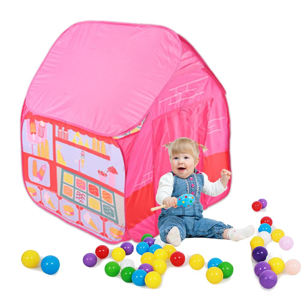 Childrens Tent Princess Boy Camping Game House Kids Outdoor Indoor Fun Play Big Tent Playhouse Outdoor House Ocean Ball Pool