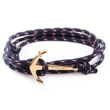 0a7882868bb1 Moda Retro vikingos pulsera para hombres mujeres Popular hombre multicapa  abrigo brazalete Color oro hecho a mano ancla pulseras.