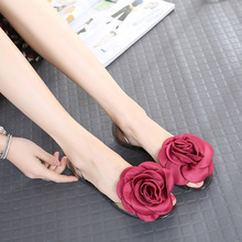 of the  crystal jelly shoes rose butterfly knot transparent beach shoes toe sandals