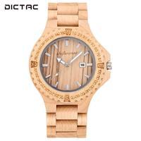 Quartz Watch Men'S Watches Fashion WristWatches Pointer Business Businessman Red Sandalwood