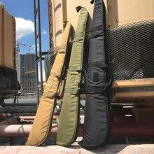 128cm tático saco de arma ao ar livre militar caso rifle airsoft caça saco exército tiro rifle alça ombro mochila