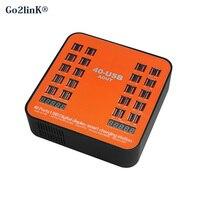 Go2linK 40 Ports USB Ladegerät 5 V 3.5A Max Power Intelligente Ladestationen Konzentriert Charge Ladung FÜHRTE Universal