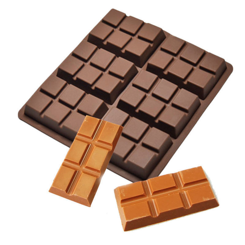 Chocolate Chunky Bars Dunmore Candy Kitchen: Enipate 6 Cells Chocolate Tablets Bar Candy DIY Silicone