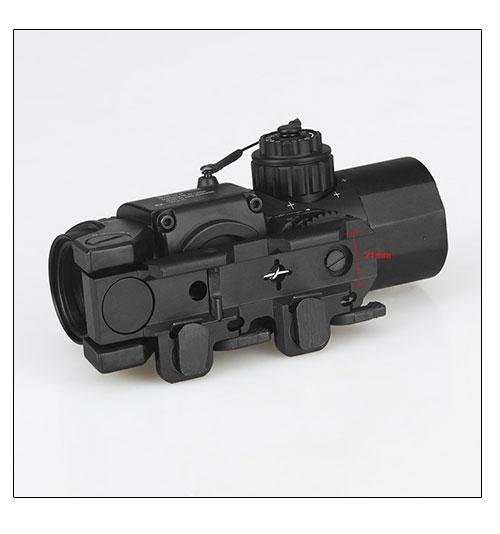 WIPSON envío libre táctico 1x-4x doble función óptica vista rifle - Caza - foto 4