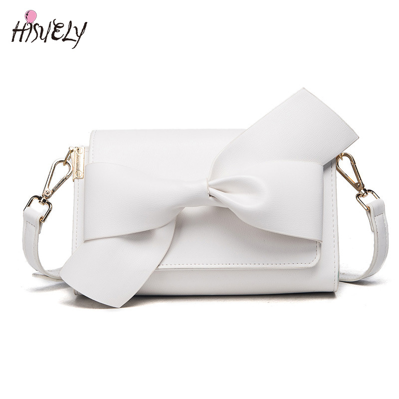 Sweet Big Bow women messenger bags handbags fashion shoulder crossbody bags for ladies clutchs evening bag bolsa feminina bolsos fashion handbags pu leather women shoulder bag mickey big ears shell sweet bow chains crossbody female mini small messenger bag