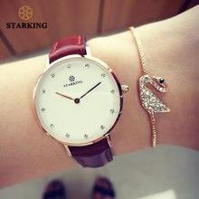 850a0a75282 STARKING Negócio Da Moda Famosa Marca de Luxo Mulheres De Quartzo Relógios  Rosa de Ouro Pulseira