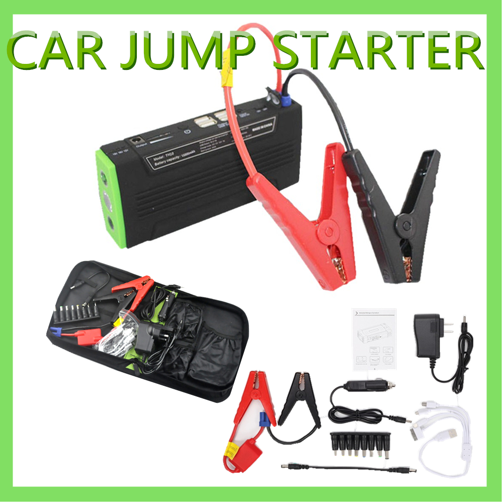 portable mini jump starter car jumper 12v booster power battery charger mobile phone laptop. Black Bedroom Furniture Sets. Home Design Ideas