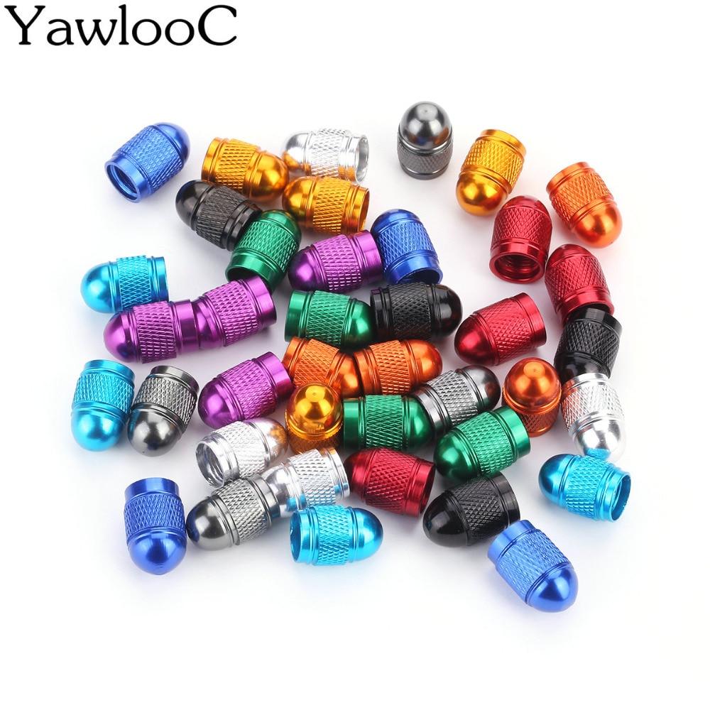 4 PC/LOT Car Styling Car Covers Aluminum Bullet Car Truck Air Port Cover Tire Rim Valve Wheel Stem Caps Tapones Valvula