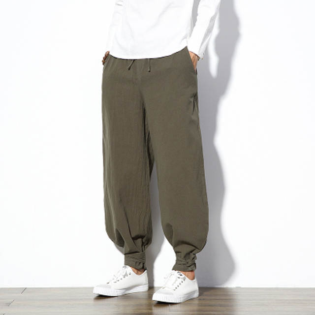 c740faf49 placeholder Chinese Pants Men Harem Pants Linen Casual Elastic Waist Plus  Size 4XL 5XL Mens Joggers Pants