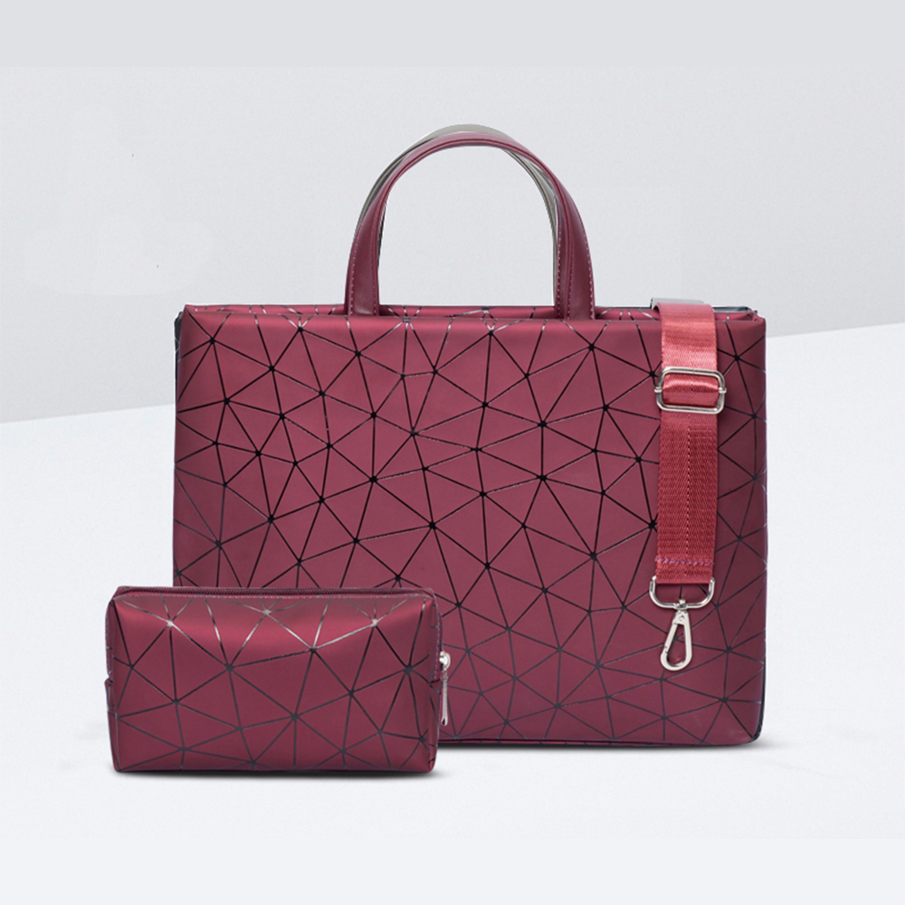 Women Laptop Messenger Shoulder Bag Waterproof Carrying Case for Macbook Dell HP 11 12 13 14 15 15.6 inch Handbag Tote PU